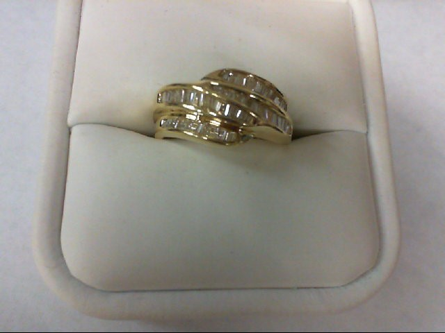 Lady's Diamond Wedding Band 66 Diamonds 1.32 Carat T.W. 14K Yellow Gold 4.4g