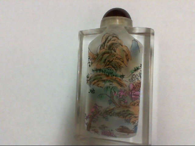 GLASS HANDPAINTED SNUFF BOTTLE