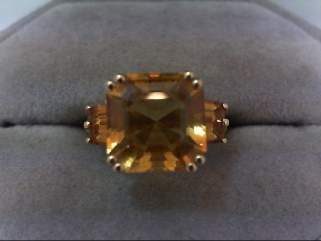 Citrine Lady's Stone Ring 14K Yellow Gold 3.2g