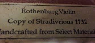 ROTHENBURG VIOLIN