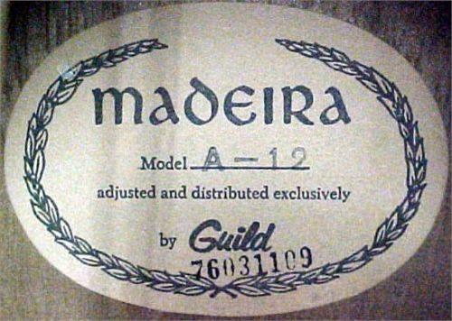 MADEIRA  GUITARS