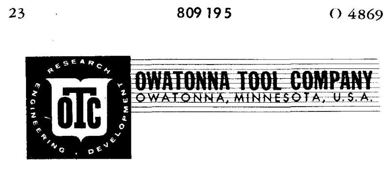 OWATONNA TOOL CO.