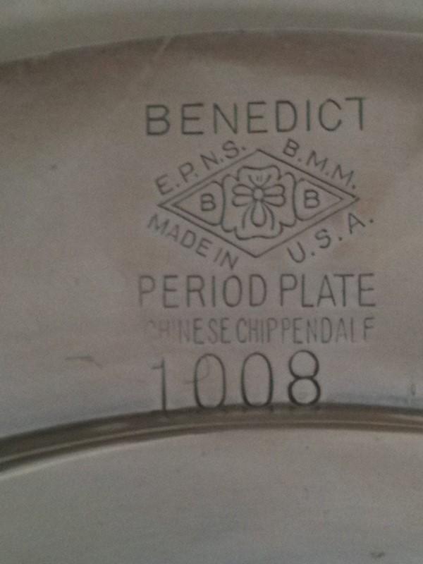 BENEDICT PLATE