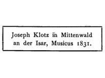 JOSEPH KLOZ