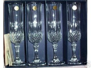 CRISTAL D'ARQUES Glass/Pottery LONGCHAMP CHAMPAGNE GLASS