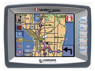 LOWRANCE GPS System IWAY 500C