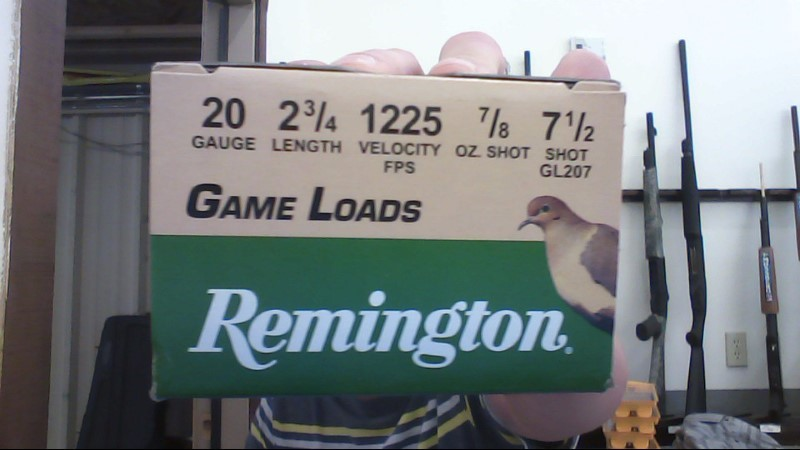 REMINGTON FIREARMS & AMMUNITION 20 GA GAME LOAD