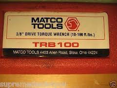 MATCO TOOLS Torque Wrench TRB100