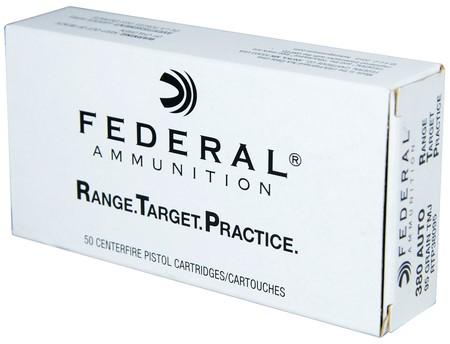 FEDERAL AMMUNITION Ammunition .380 ACP 95 GR RTP (RTP38095)