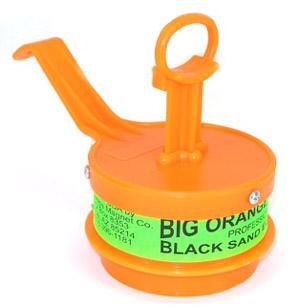 5912,  THE BIG ORANGE MAGNET IS A MUST FOR PICKING UP MAGNETIC BLACK SAND