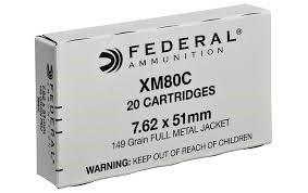 FEDERAL AMMUNITION Ammunition XM80C