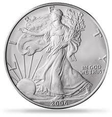 UNITED STATES Silver Coin SILVER EAGLE 1OZ FINE SILVER -ONE DOLLAR