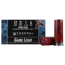 "FEDERAL AMMUNITION Ammunition H1216 12 GA 2.75"" 1 OZ #6 GAME LOAD"