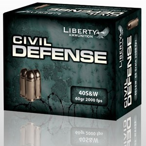 LIBERTY AMMUNITION Ammunition CIVIL DEFENSE 40