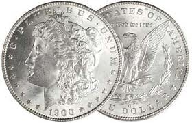 UNITED STATES Silver Coin 1900 MORGAN SILVER DOLLAR