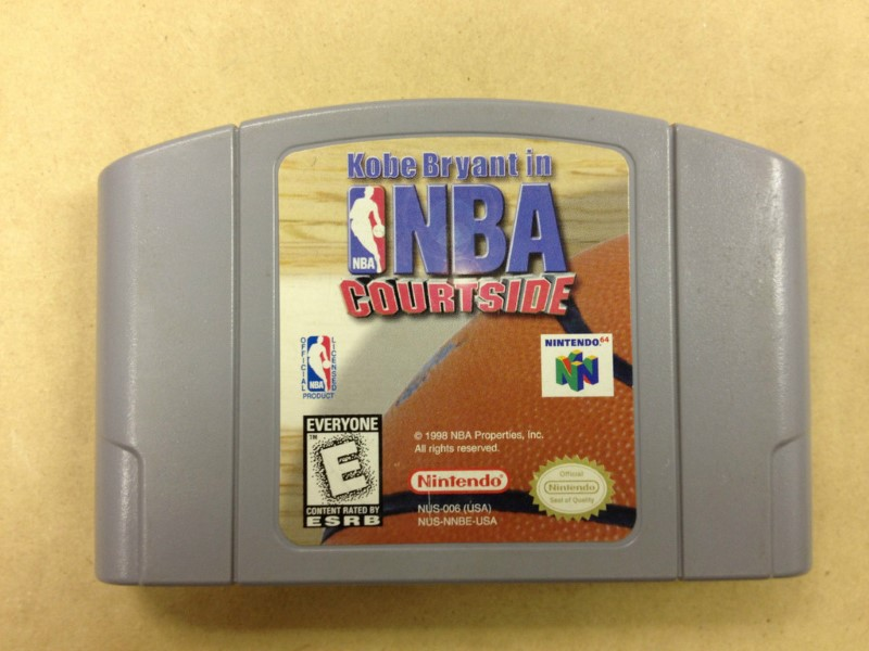 NINTENDO 64 Game KOBE BRYANT IN NBA COURTSIDE *CARTRIDGE ONLY*