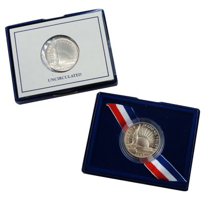 UNITED STATES Silver Coin LIBERTY ELLIS ISLAND DOLLAR
