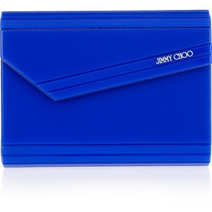 JIMMY CHOO CANDY ACRYLIC CLUTCH SHOULDER BAG