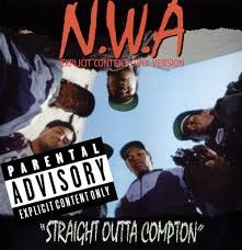 RUTHLESS RECORDS N.W.A. STRAIGHT OUT OF COMPTON
