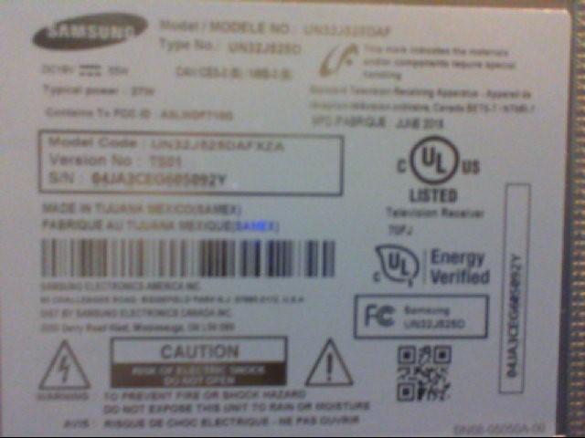 Samsung Flat Panel Television UN32J525DAF