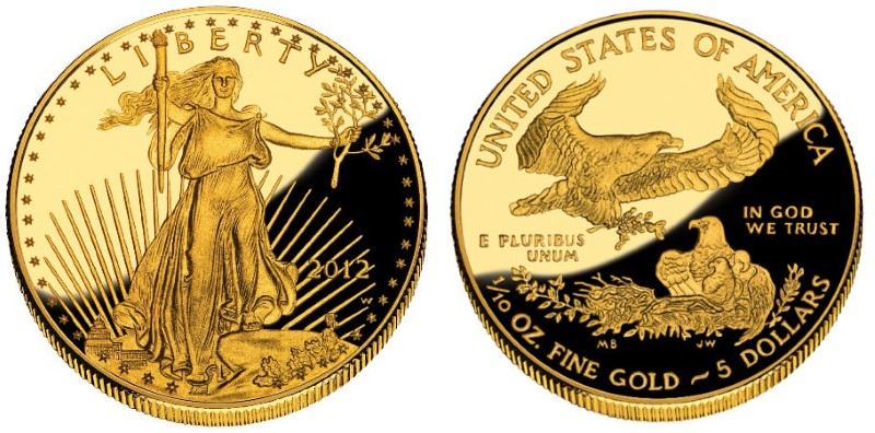 UNITED STATES Gold Coin AMERICAN EAGLE $5 - 1/10 OUNCE (1986 TO DATE)