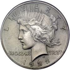 UNITED STATES Silver Coin 1922 D PEACE DOLLAR