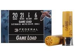 """FEDERAL AMMUNITION Ammunition 20 GA 2.75"""" 7/8 OZ #6 GAME LOAD"""