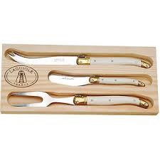 LAGUIOLE Kitchen Knife IVORY CHEESE SET