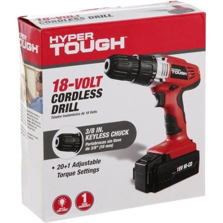 HYPER TOUGH Cordless Drill AQ75005G