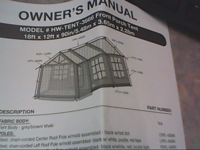 Northwest Territory Tent Instructions Yard And Tent Photos