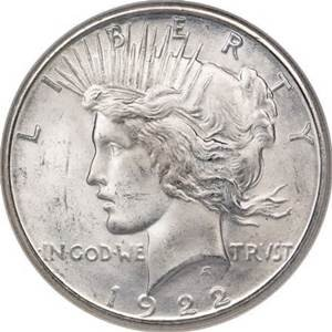 UNITED STATES Silver Coin 1922 S PEACE DOLLAR