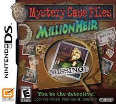 NINTENDO Nintendo DS Game MYSTERY CASE FILES MILLION HEIR