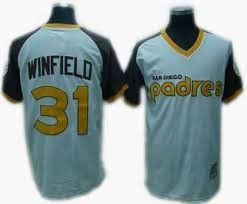 MITCHELL & NESS Shirt NESS SAN DIEGO PADRES 31 WINFIELD