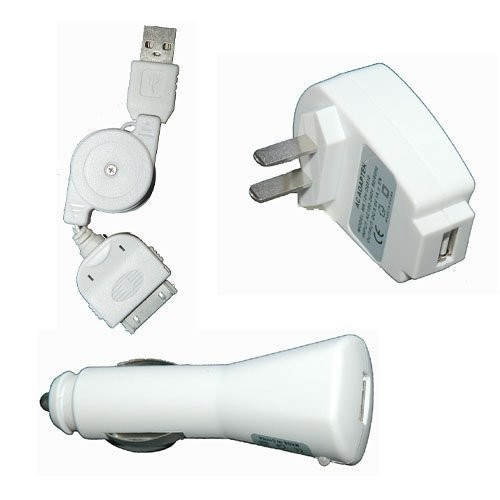 ISTUFF IPOD/MP3 Accessory 3 IN 1 IPOD CHARGER