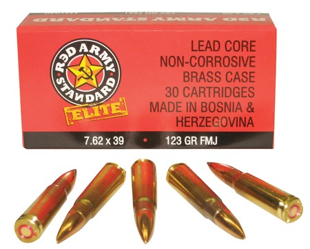 RED ARMY STANDARD Ammunition 7.62X39MM BRASS - 30 COUNT (AM1930B)