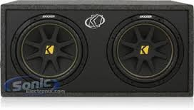"KICKER Speakers/Subwoofer COMP 2 10"" SUBS IN BOX"