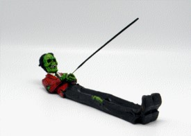 FANTASY GIFTS 2461 ZOMBIE INCENSE HOLDER