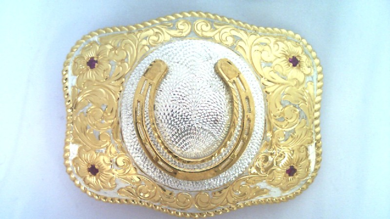 1978 CRUMRINE MFG BELT BUCKEL 22K GOLD PLATE ON STERLING
