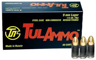 TUL AMMO Ammunition 9MMFMJ