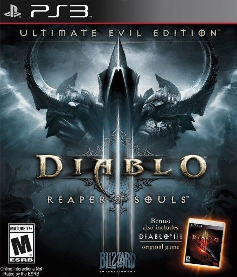 SONY Sony PlayStation 3 Game DIABLO 3 REAPER OF SOULS ULTIMATE EVIL EDITION