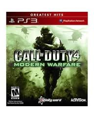 Sony PlayStation 3 Game CALL OF DUTY 4 MODERN WARFARE GAME OF THE YEAR EDITION