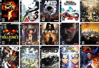 SONY Sony PlayStation 3 PS3 GAMES