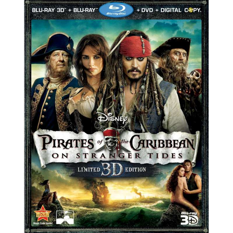 BLU-RAY MOVIE Blu-Ray PIRATES OF THE CARIBBEAN ON STRANGER TIDES