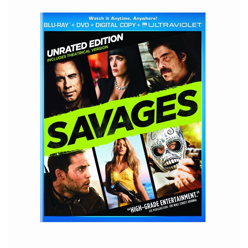 BLU-RAY MOVIE SAVAGES UNRATED EDITION