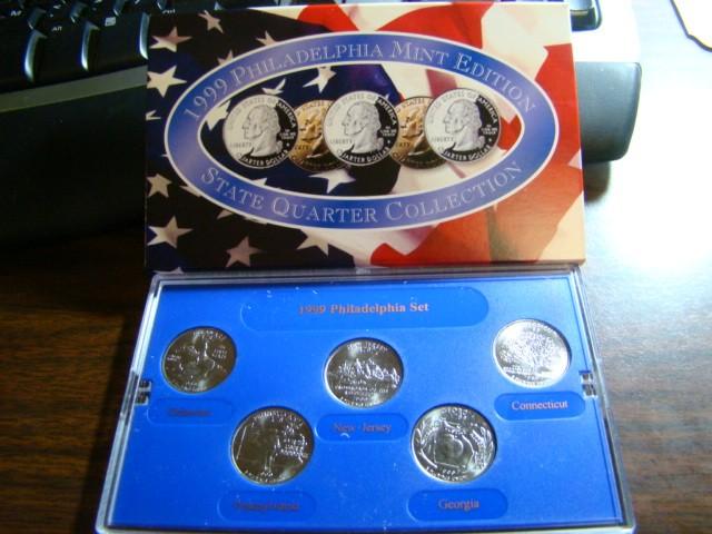 UNITED STATES MINT SET 1999 PHILADELPHIA MINT EDITION STAE QUARTER COLLEC