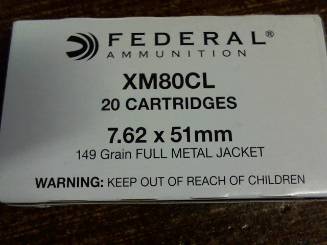 FEDERAL AMMUNITION Ammunition 7.62X51