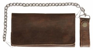 "UNIK INTERNATIONAL INC MODEL 9065.00, LEATHER WALLET, ANTIQUE BROWN, 7"" X 3.5"""