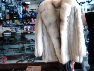 FLETCHER & BENSKY Clothing SHORT BLUE FOX FUR COAT