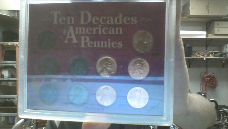 UNITED STATES COIN MINT Coin TEN DECADES OF AMERICAN PENNIES