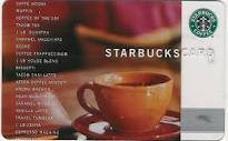 STARBUCKS Gift Cards GIFT CARD